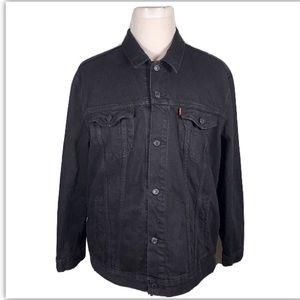 Levi's Black Denim Jeans Trucker Jacket